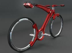 Bicicleta futurista tem rodas sem raios e dobra como guarda-chuvas